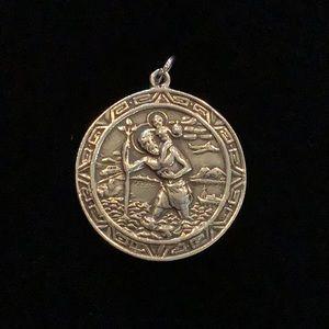 Sterling silver Saint Christopher